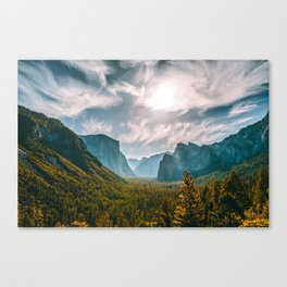 Tunnel View at Yosemite (USA) Canvas Print