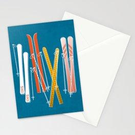 Colorful Ski Pattern Stationery Cards