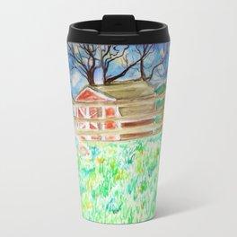 Goldendoodle Cuteness Watercolor Painting Travel Mug