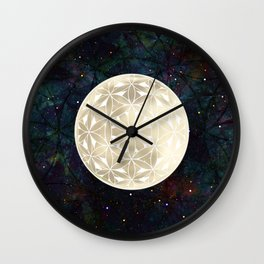 The Flower of Life Moon 2 Wall Clock