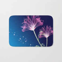 3D Color Flowers Bath Mat
