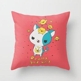Really Good Kitty Throw Pillow