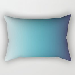 Blue White Gradient Rectangular Pillow