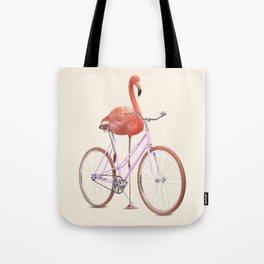FLAMINGO BIKE Tote Bag