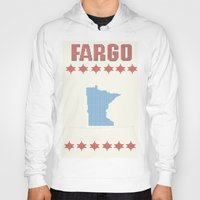 fargo Hoodies featuring Fargo Cross Stitch by Cameron Chapman
