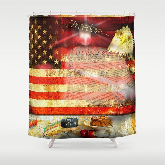 Americana Shower Curtain by jameykeys | Society6