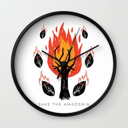 Amazonia 2019 - Save The Planet Wall Clock