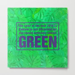 Green and Ultra Violet Metal Print