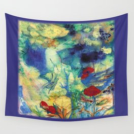 Fairy with Red Flowers Wall Tapestry