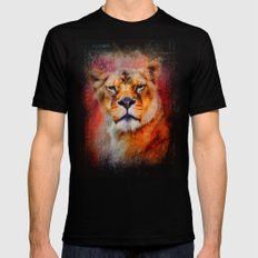 Colorful Expressions Lioness Black MEDIUM Mens Fitted Tee
