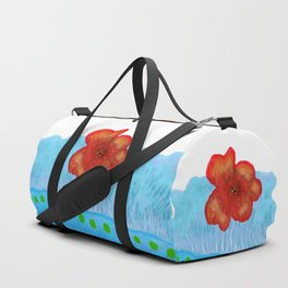 Coquelicot de jour bis Duffle Bag