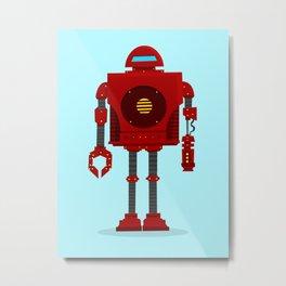 Robo Friend Metal Print