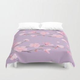 Cherry Blossom - Pale Purple Duvet Cover