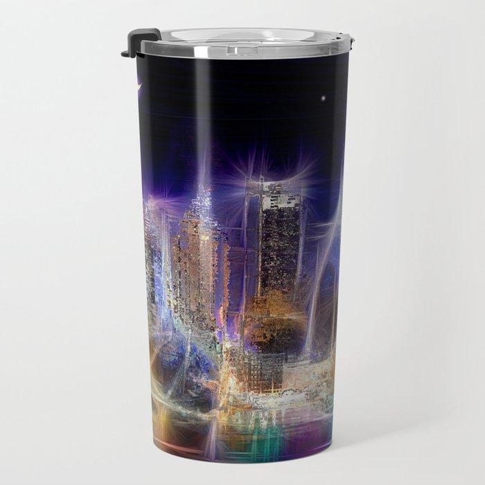Starry Night New York City Travel Mug