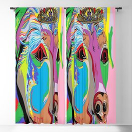 Lady Rottweiler Blackout Curtain