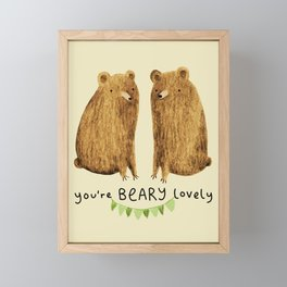 Beary Lovely Framed Mini Art Print