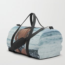 WOMAN - SEA - OCEAN - WATER - HAIR - BATHING - SUIT Duffle Bag