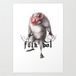 Folkbol Art Print