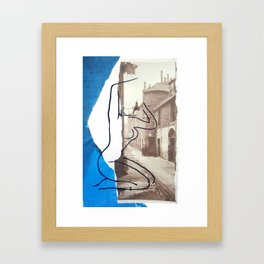 The Lady Down the Lane Framed Art Print