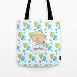 Baby Feet Angel Blessing Tote Bag
