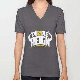 Purple Reign Vikings Skol Chant Kings Minnesota Football Fan Jersey Viking T-Shirts Unisex V-Neck