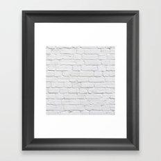 White Brick Wall Framed Art Print