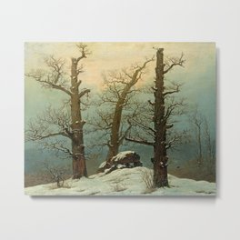 Caspar David Friedrich - Cairn in Snow Metal Print