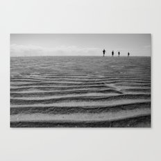 On the Beach (B+W) Canvas Print