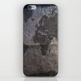 Gray metal - Organic World Map Series iPhone Skin