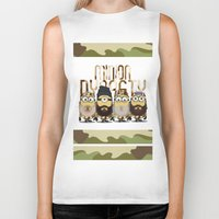 minions Biker Tanks featuring Minions Mashup Duck Dinasty by Akyanyme