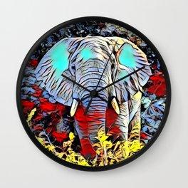Color Kick - Elephant Wall Clock