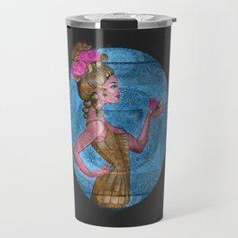 Beckoning Floral Vixen Victorian Vintage Print Travel Mug