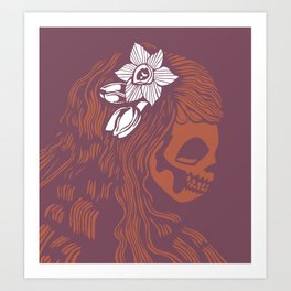 Death Becomes Hair Art Print