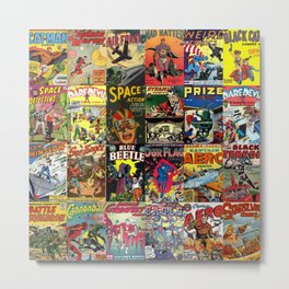 Comic Book Collage II Metal Print