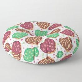 Heart doughnuts Floor Pillow