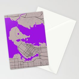 Vancouver Minimalist Map Stationery Cards