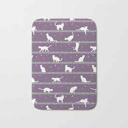 Cats Pattern (purple) Bath Mat