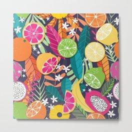Tropical fruit pattern 03 Metal Print