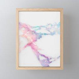 Unicorn Vein Marble Framed Mini Art Print