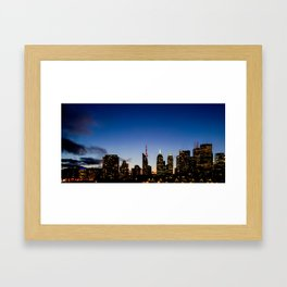Skyline - The Darkness Is Coming Framed Art Print
