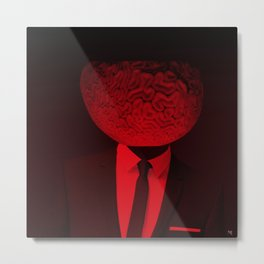 red 1 · the truth is dead Metal Print