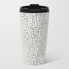 Enokitake Mushrooms (pattern) Metal Travel Mug