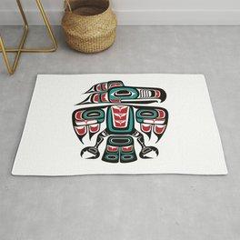 Haida Tlingit Native Raven Totem Rug