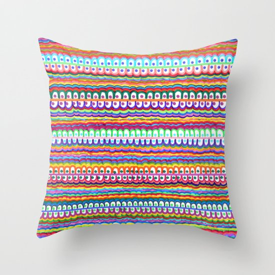 fusion color invasion Throw Pillow