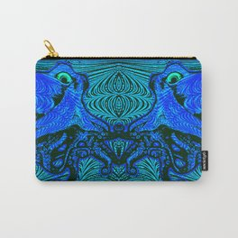 OctoSpeculum #4 - Psychedelic Octopus Fractal Optical Illusion Vibrant Design Carry-All Pouch