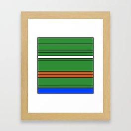 Pepe square Framed Art Print
