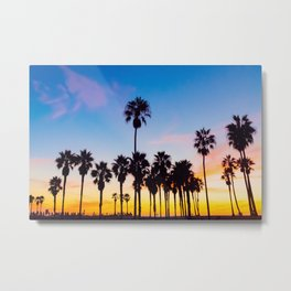 Venice Beach at Sunset Metal Print