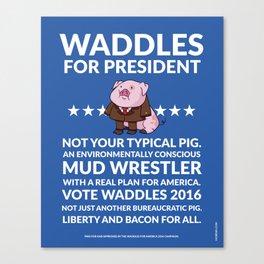 Waddles 2016 Canvas Print