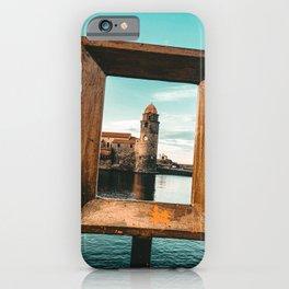 Medieval Collioure Church | Notre-Dame-des-Anges Mediterranean Coast France Teal iPhone Case