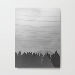 Sillhouette of forest tree against sky with room above for your copy Metal Print